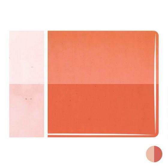 Bullseye Sheet Glass: 2mm Sunset Coral Striker 1305.50