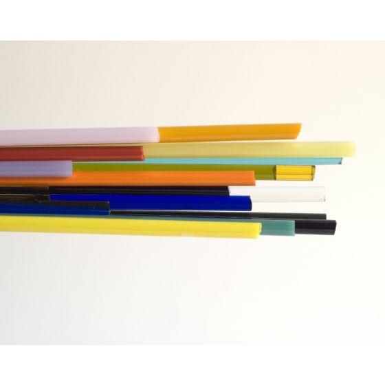 1lb Mixed Bullseye Glass Rods