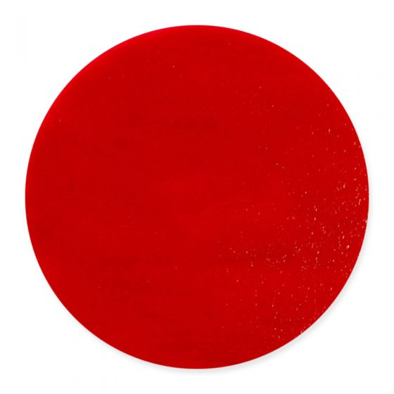 20cm Tomato Red Opal Striker Pre-Cut Glass Circle (0024)