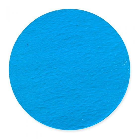 20cm Turquoise Blue Transparent Pre-Cut Glass Circle (1116)