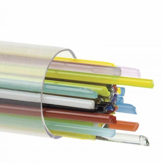 2mm Mixed Bullseye Glass Stringers - large pack
