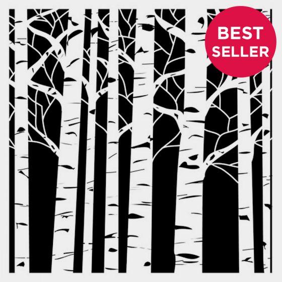 Aspen Tree Stencil 15cm x 15cm