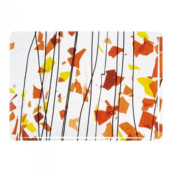 Bullseye Collage Glass: Fracture-Streamer Autumn 4111
