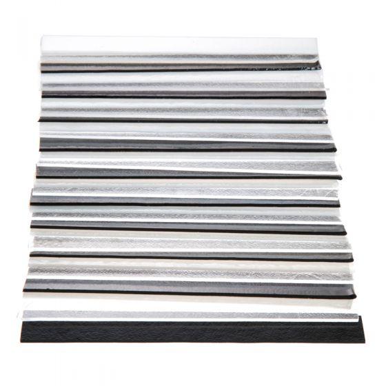 Bullseye Glass: 2mm Black, White & Clear Strip Saver Pack