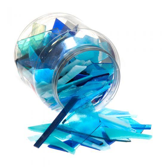 Bullseye Glass: Blue Variety Offcuts 1.5kg