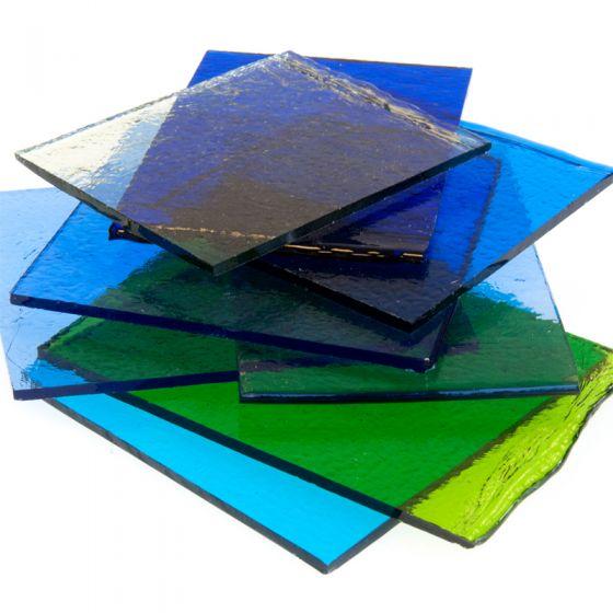 Bullseye Glass: Cool Transparent Glass Student Pack 500g
