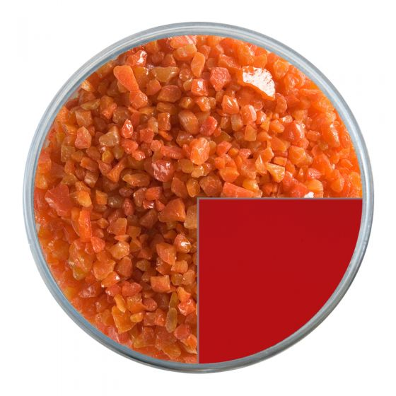 Bullseye Glass Frit: Pimento Red Opal Coarse 0225.03