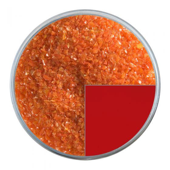 Bullseye Glass Frit: Pimento Red Opal Medium 0225.02