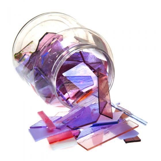 Bullseye Glass: Pink & Purple Variety Offcuts 1.5kg