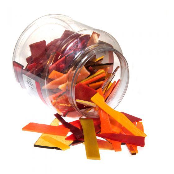 Bullseye Glass: Red & Orange Variety Offcuts 1.5kg