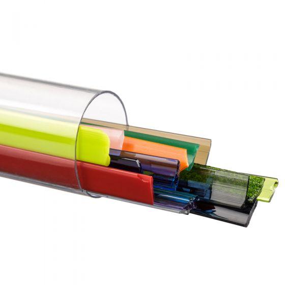 Bullseye Glass Ribbons: Mixed Colours