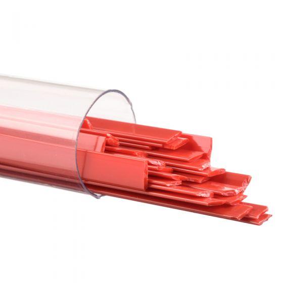 Bullseye Glass Ribbons: Red Opal 0124