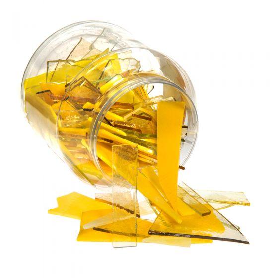 Bullseye Glass: Yellow Variety Offcuts 1.5kg