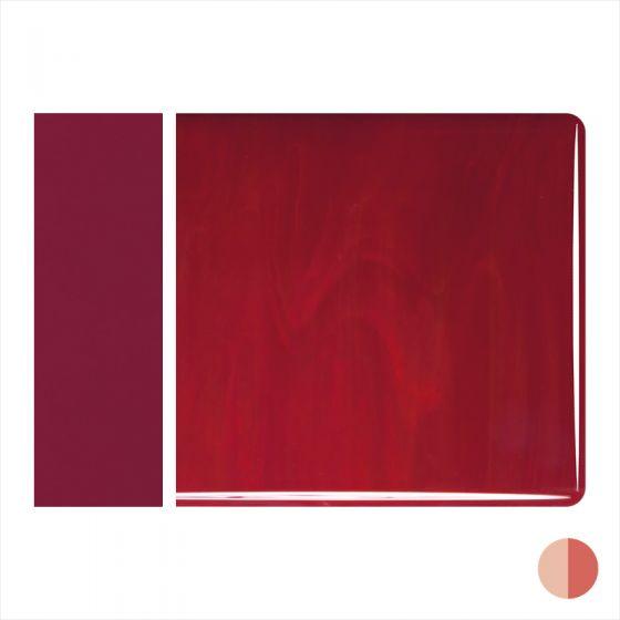 Bullseye Sheet Glass: 2mm Deep Red Opal Striker 0224.50