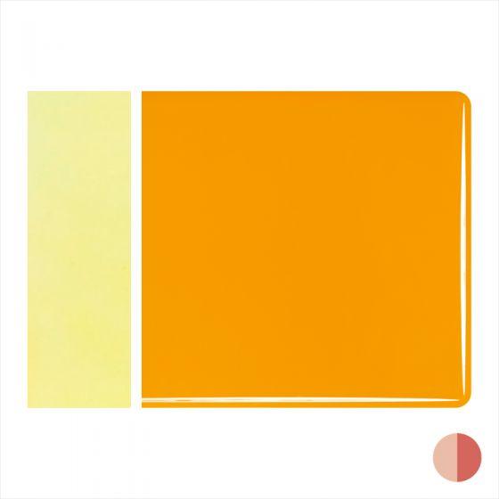 Bullseye Sheet Glass: 2mm Marigold Yellow Opal Striker 0320.50