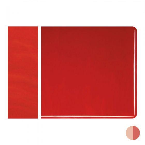 Bullseye Sheet Glass: 2mm Red Opal Striker 0124.50
