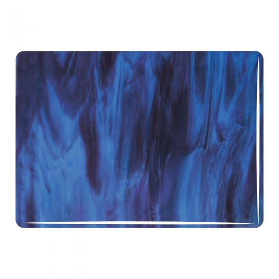 Bullseye Sheet Glass: 3mm Blue Opal and Plum Streaky 2105
