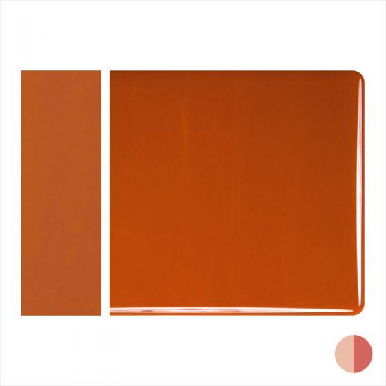 Bullseye Sheet Glass: 3mm Burnt Orange Opal Striker 0329.30