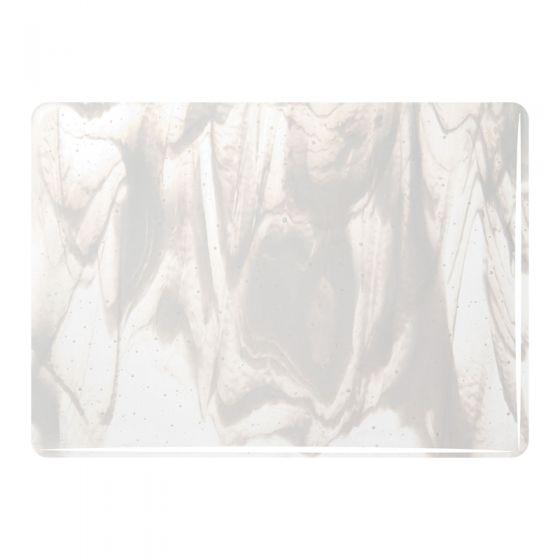 Bullseye Sheet Glass: 3mm Clear & White Streaky Opal 2130.30
