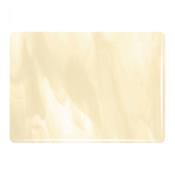 Bullseye Sheet Glass: 3mm Clear, French Vanilla Streaky 2037