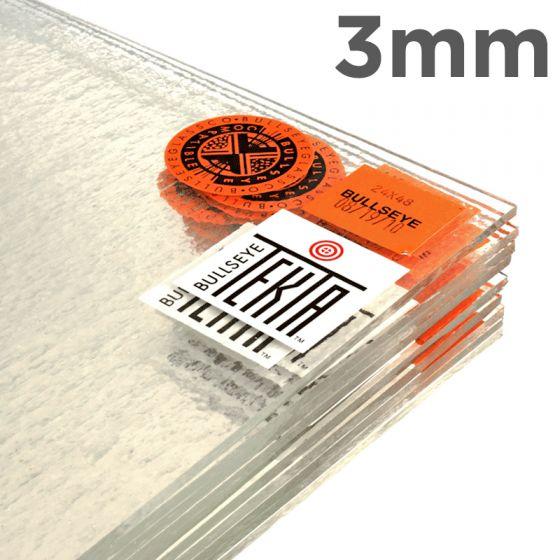 Bullseye Sheet Glass: 3mm Clear Tekta 1100.380