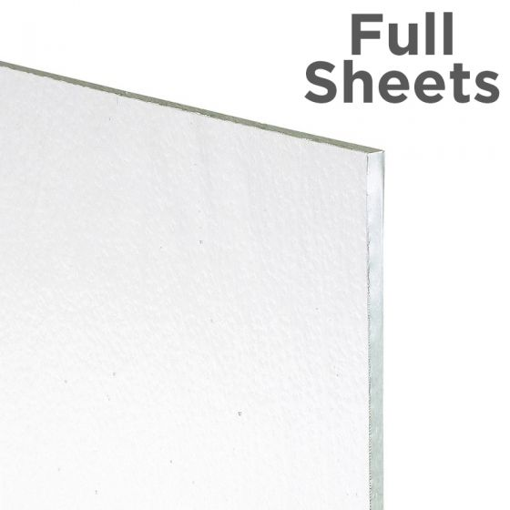 Bullseye Sheet Glass: 3mm Crystal Clear Tekta Full Sheets
