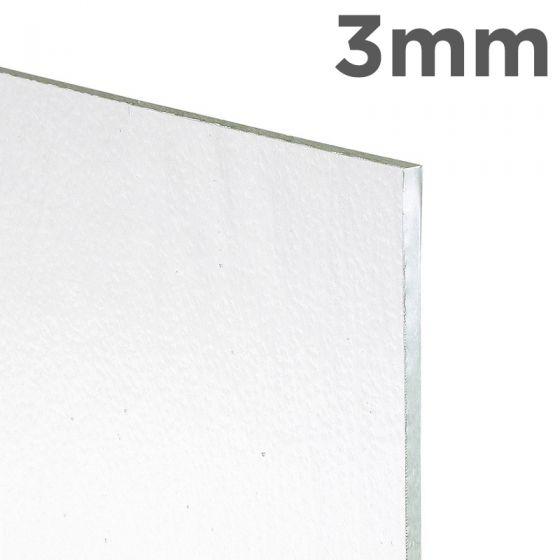 Bullseye Sheet Glass: 3mm Crystal Clear Tekta
