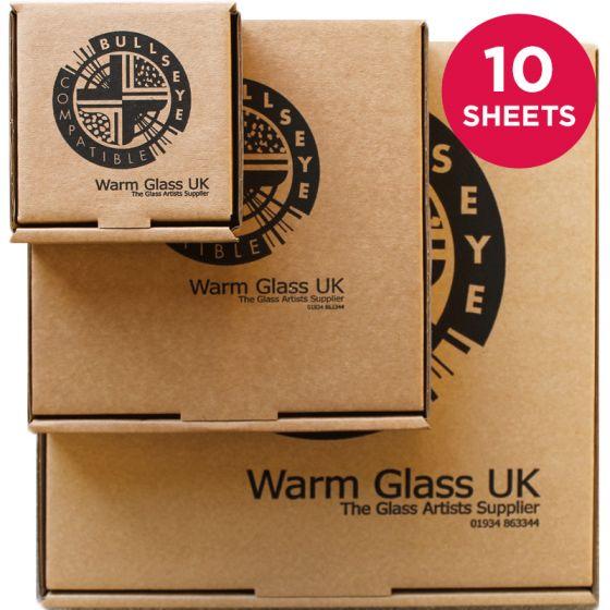 Bullseye Sheet Glass: 3mm Mega Tekta Saver Packs