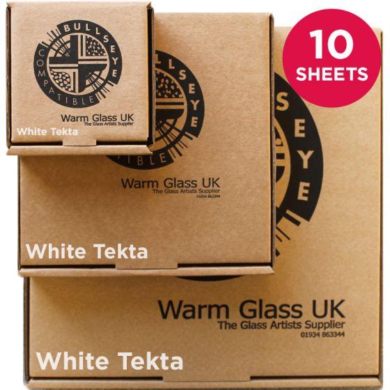 Bullseye Sheet Glass: 3mm Mega White Tekta Saver Packs