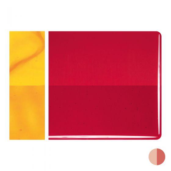 Bullseye Sheet Glass: 3mm Red Striker Transparent 1122.30