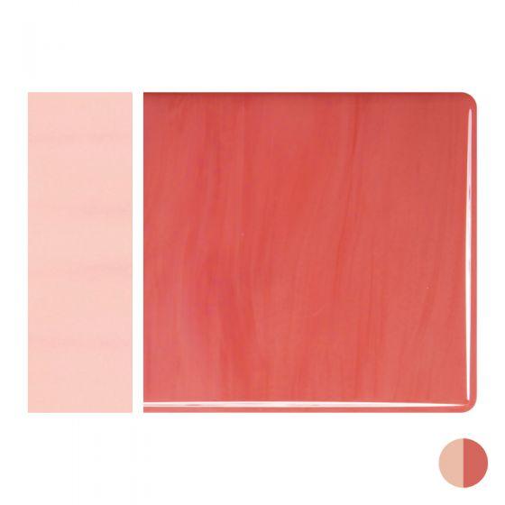 Bullseye Sheet Glass: 3mm Salmon Pink Opal Striker 0305.30