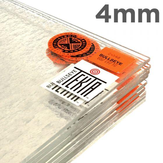 Bullseye Sheet Glass: 4mm Clear Tekta 1100.480