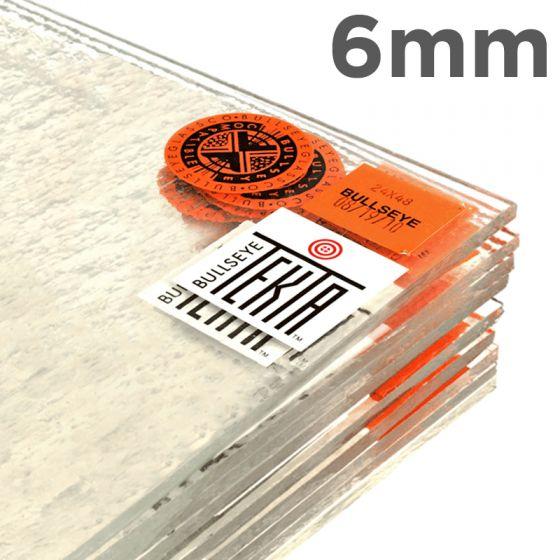 Bullseye Sheet Glass: 6mm Clear Tekta 1100.680