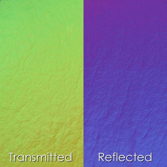 CBS Dichroic Glass: Yellow/Purple on thin clear