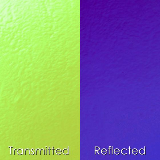 CBS Dichroic Glass: Yellow/Violet on thin clear
