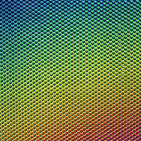 CBS Dichroic Texture: Cube Rainbow 2 on Black