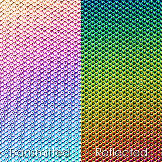 CBS Dichroic Texture: Cube Rainbow 2 on Clear