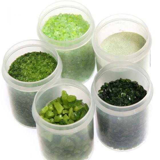 Bullseye Glass Green Frit Collection