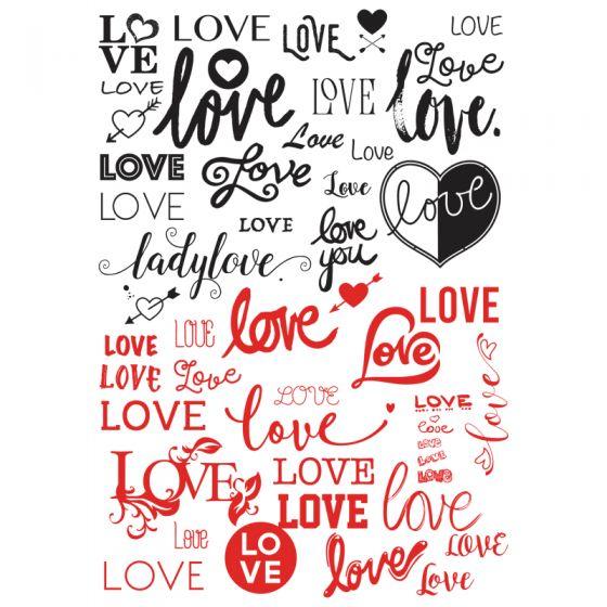 Love Decal 10 x 14.5cm (Lead Free)