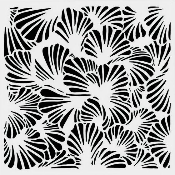 Lush Petals Stencil 15cm x 15cm