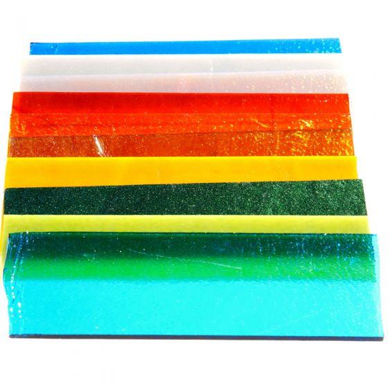 Bullseye Glass: Opal & Transparent Strip Saver Pack 1kg