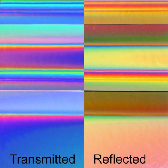 Dichroic Glass: Tropical Rays on thin clear